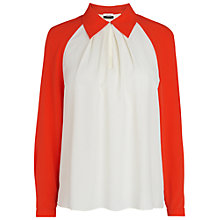 Buy Jaeger Colour Block Top, Orange Online at johnlewis.com