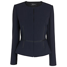 Buy Jaeger Grosgrain Jacket, Navy Online at johnlewis.com