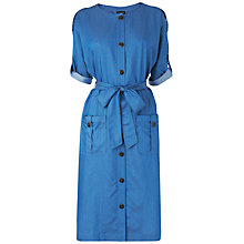 Buy Jaeger Tie Dress, Chambray Online at johnlewis.com