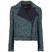 Buy Jaeger Tweed Cropped Biker Jacket Online at johnlewis.com