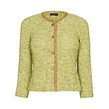 Buy James Lakeland Textured Knit Jacket, Green Online at johnlewis.com