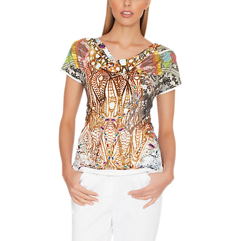 Buy James Lakeland Jewellery Print Top, Multi Online at johnlewis.com