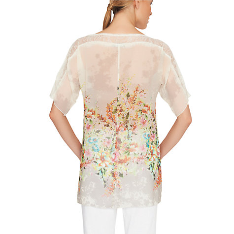 Buy James Lakeland Lace Print Kaftan Top, Multi Online at johnlewis.com