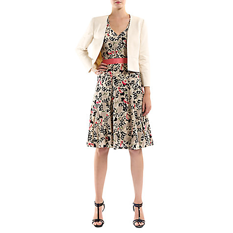 Buy Havren Orchid Print Dress, Stone Online at johnlewis.com