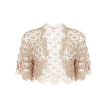 Buy Jacques Vert Crochet Bolero, Stone Online at johnlewis.com