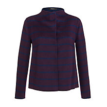 Buy Weekend by MaxMara Double Face Stripe Jacket, Navy/Burgundy Online at johnlewis.com
