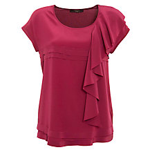 Buy Weekend by MaxMara Ruffle Jersey Back Top, Dark Red Online at johnlewis.com