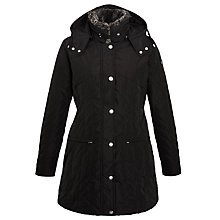 Buy Armani Jeans Quilted Coat, Black Online at johnlewis.com