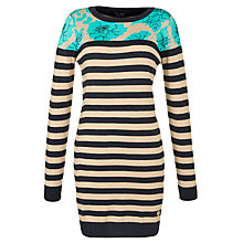 Buy Armani Jeans Intarsia Dress, Camel/blue Online at johnlewis.com