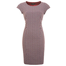 Buy Weekend by MaxMara Tile Print Dress, Bordeaux/Navy Online at johnlewis.com