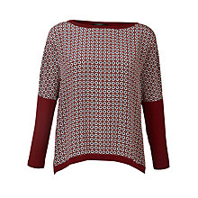 Buy Weekend by MaxMara Tile Print Jersey Top, Ultramarine Online at johnlewis.com