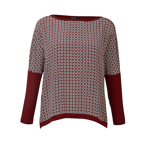 Buy Weekend by MaxMara Tile Print Jersey Top, Red Online at johnlewis.com