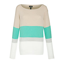 Buy Armani Jeans Colour Block Jumper, Camel/Blue Online at johnlewis.com