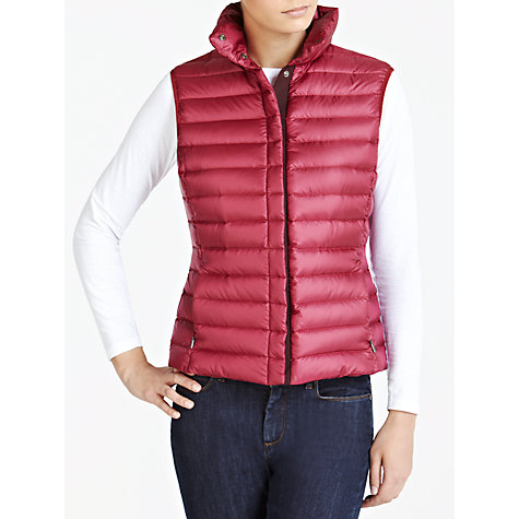 Buy Weekend by MaxMara Down Filled Gilet Jacket, Bordeaux Online at johnlewis.com