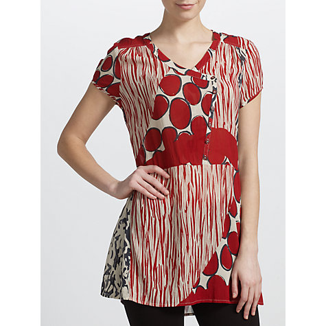 Buy Sandwich Abstract Print Tunic Top, Red Pepper Online at johnlewis.com