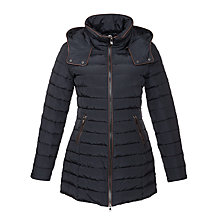 Buy Armani Jeans 3/4 Length Quilted Coat, Navy Online at johnlewis.com