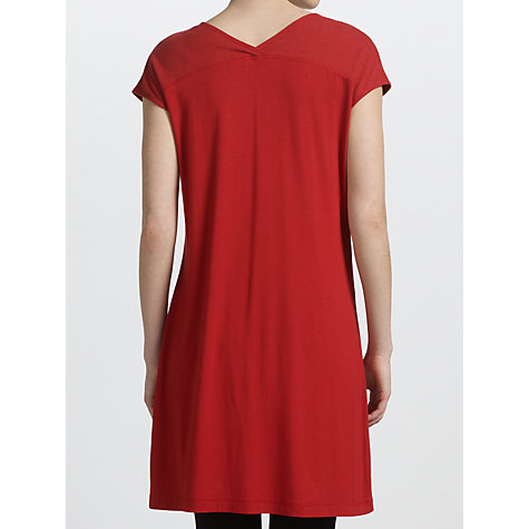 Buy Sandwich Jersey V-Neck Tunic Top, Red Pepper Online at johnlewis.com