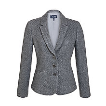 Buy Armani Jeans Bouclé Blazer, Grey Online at johnlewis.com
