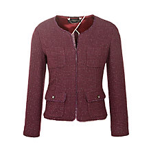 Buy Weekend by MaxMara Boucle Sparkle Jacket, Bordeaux Online at johnlewis.com