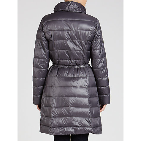Buy Armani Jeans Long Lightweight Quilted Jacket, Titanium Online at johnlewis.com