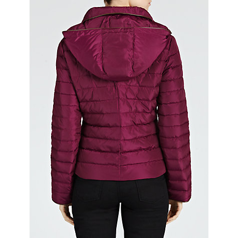Buy Armani Jeans Short Hooded Quilted Jacket Online at johnlewis.com