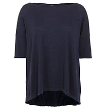 Buy Weekend by MaxMara Pleated Back Jumper, Ultramarine Online at johnlewis.com