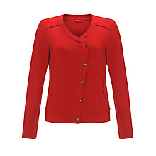 Buy Sandwich Collarless Jersey Jacket, Red Pepper Online at johnlewis.com