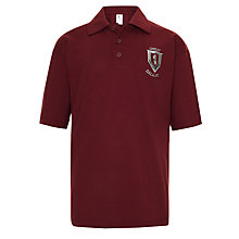 Buy Great Ballard School Unisex Polo Shirt, Maroon Online at johnlewis.com