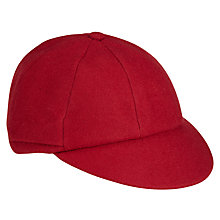 Buy School Plain Cap, Red Online at johnlewis.com