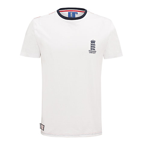 Buy English Cricket Board Small Logo T-Shirt Online at johnlewis.com