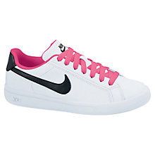 Buy Nike Main Draw Tennis Shoes, White/Pink Online at johnlewis.com