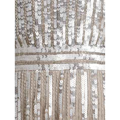 Buy Somerset by Alice Temperley Cap Sleeve Sequin Dress, Silver Online at johnlewis.com