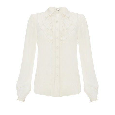 Buy Somerset by Alice Temperley Frill Front Blouse, Cream Online at johnlewis.com