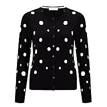 Buy COLLECTION by John Lewis Jessica Spotted Cardigan, Black/Ivory Online at johnlewis.com