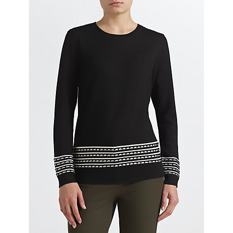 Buy COLLECTION by John Lewis Aylin Jumper, Black/Ivory Online at johnlewis.com