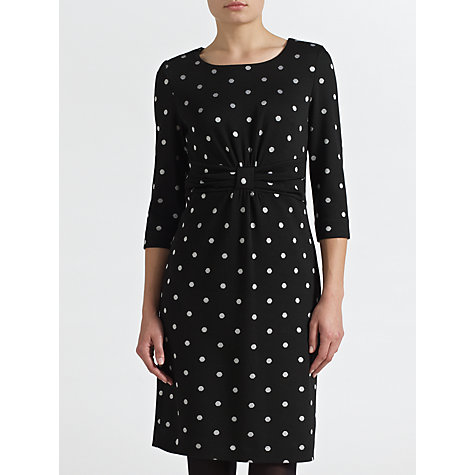 Buy COLLECTION by John Lewis Christina Half Sleeve Spot Dress, Black/Cream Online at johnlewis.com