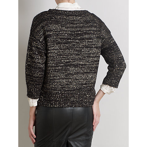 Buy Somerset by Alice Temperley Sequin Detail Jumper, Black Online at johnlewis.com