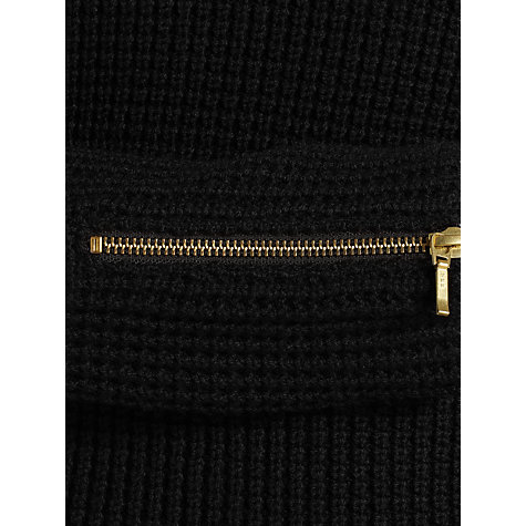 Buy COLLECTION by John Lewis Ally Waffle Stitch Jumper, Black Online at johnlewis.com