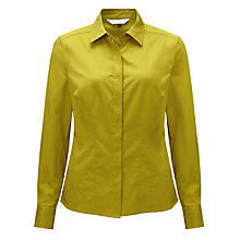 Buy COLLECTION by John Lewis Helen Stretch Blouse, Lime Online at johnlewis.com