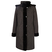 Buy John Lewis Faux Fur Lined Mac, Animal Print Online at johnlewis.com