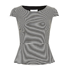 Buy COLLECTION by John Lewis Simone Peplum Top, Black/White Online at johnlewis.com