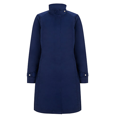 Buy John Lewis Funnel Neck Mac, Navy Online at johnlewis.com