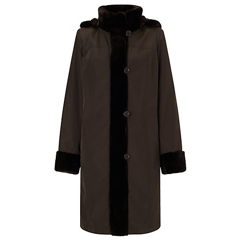 Buy John Lewis Faux Fur Lined Mac Online at johnlewis.com