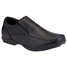 Buy John Lewis Boy Jack Slip On School Shoes, Black Online at johnlewis.com