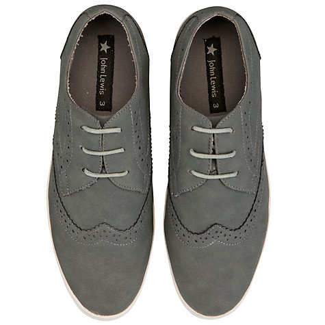 Buy John Lewis Boy Ashcroft Brogues, Grey Online at johnlewis.com