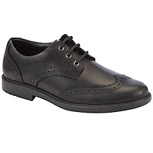 Buy Clarks Amersham Shoes, Black Online at johnlewis.com