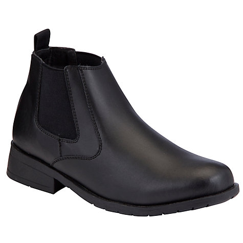 Buy John Lewis Boy Jockey Chelsea Boots, Black Online at johnlewis.com