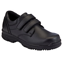 Buy John Lewis Boy Double Strap School Shoes, Black Online at johnlewis.com