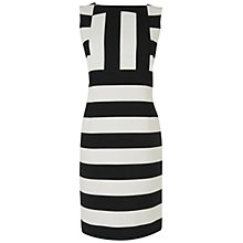 Buy Jaeger Mono Stripe Dress Online at johnlewis.com