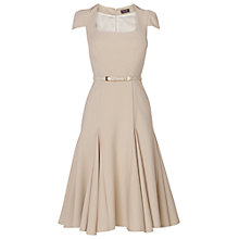 Buy Phase Eight Jamie Fit and Flare Belted Dress, Stone Online at johnlewis.com